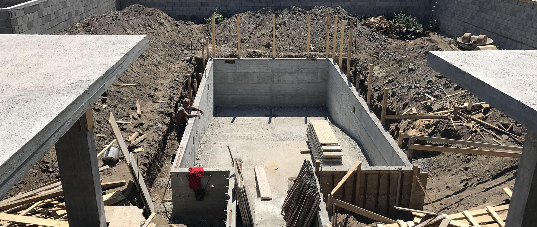 piscina in cemento armato